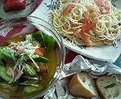 今日のランチ 夏野菜
