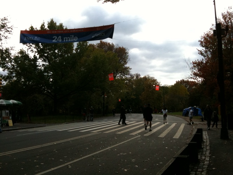 ニューヨークシティーマラソン 残り2.2マイル地点